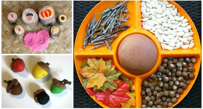 autumn play dough ideas for kids