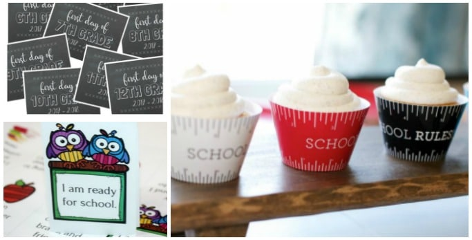 back to school printables free
