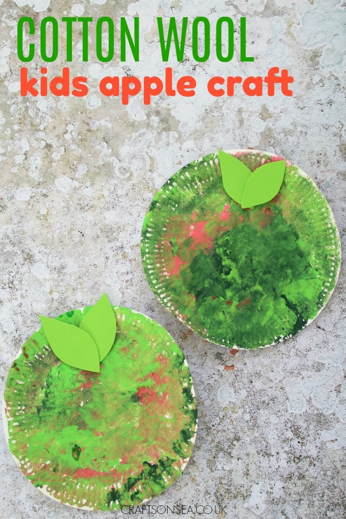 easy paper plate apple craft for kids fine motor skills