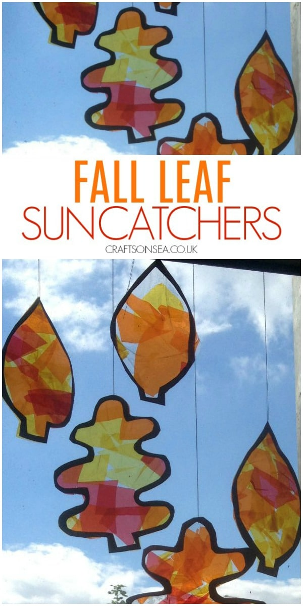 fall leaf suncatcher craft for kids