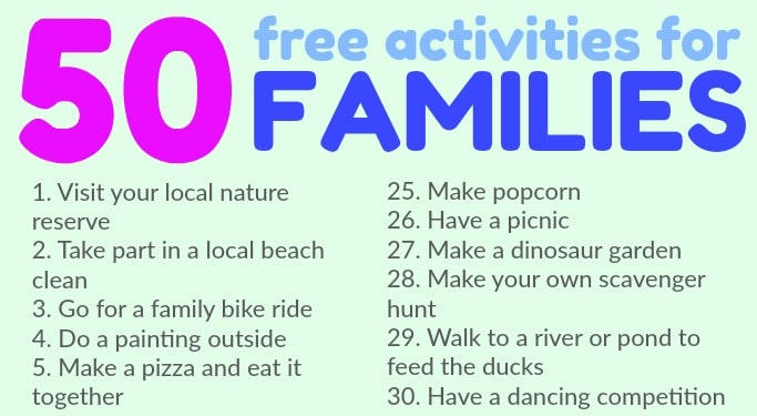 free activities families