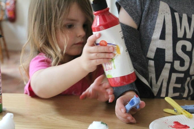 painting apple craft for kids