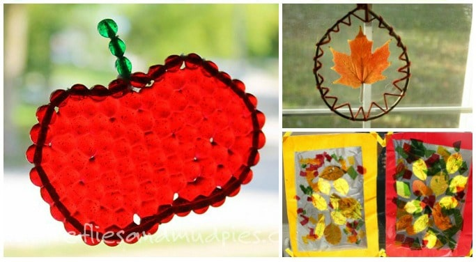 15 AUTUMN SUNCATCHERS KIDS CAN MAKE