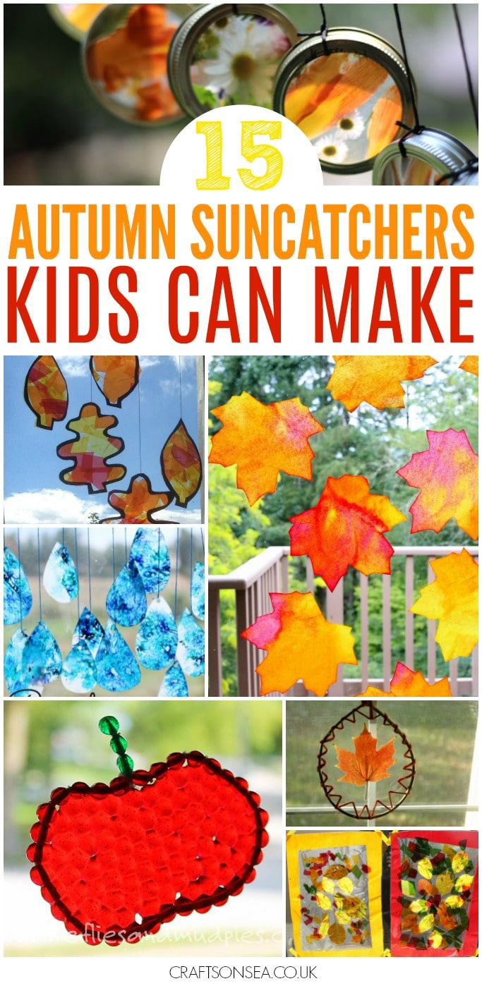 AUTUMN SUNCATCHERS KIDS CAN MAKE