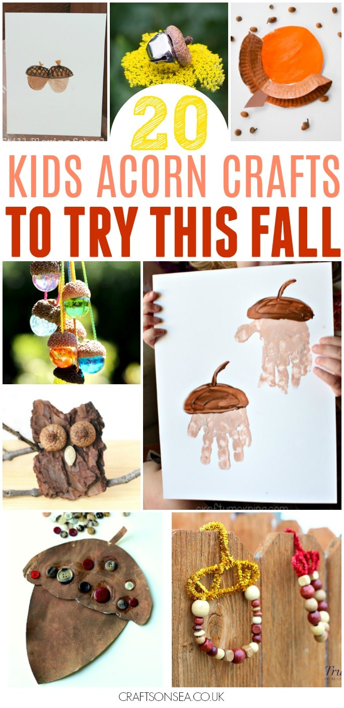 EASY ACORN CRAFTS FOR KIDS