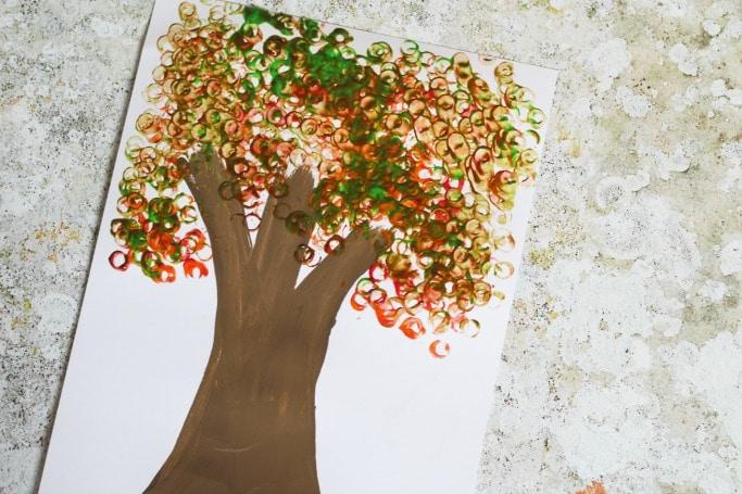 Lego Autumn Leaves Craft