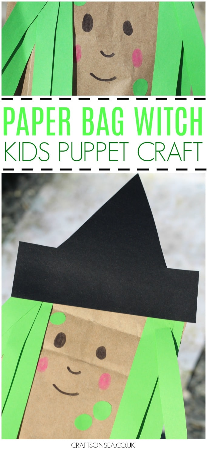 paper bag witch kids craft - Witch Pictures For Kids