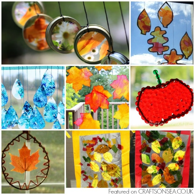 autumn suncatchers for kids