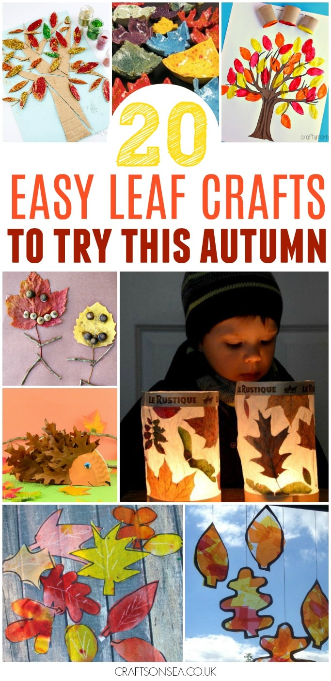easy autumn leaf crafts for kids