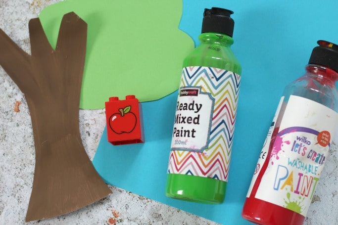kids apple tree craft materials