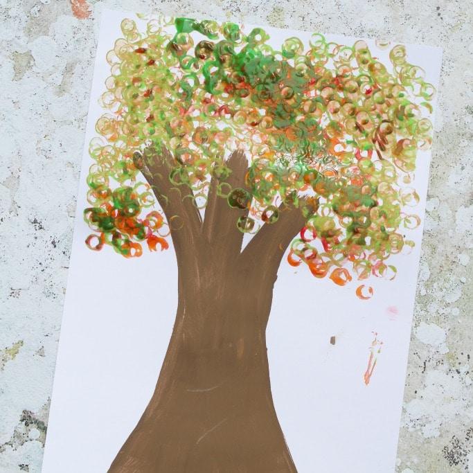 lego printed autumn tree craft