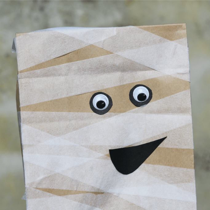 paper bag mummy square