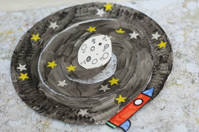 paper plate craft kids book goodnight spaceman
