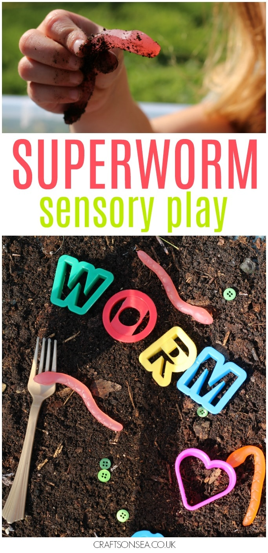 superworm sensory play ideas eyfs