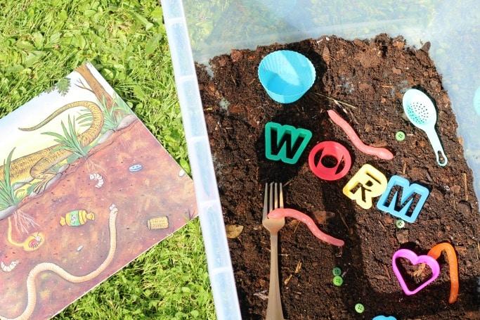 superworm sensory play ideas