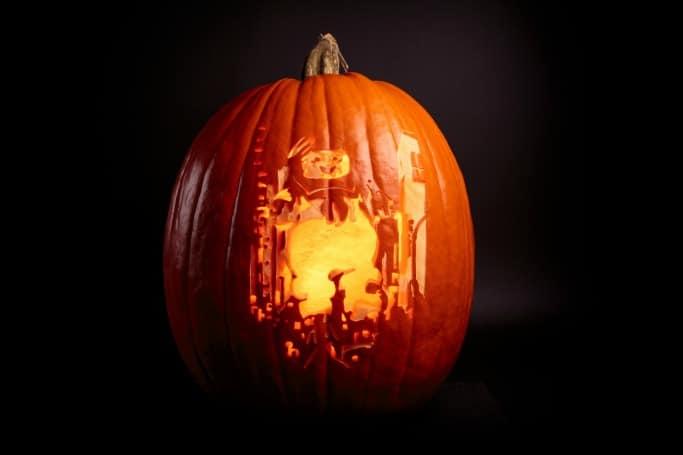 Ghostbusters pumpkin carving halloween