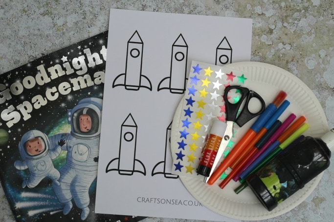 Goodnight Spaceman craft materials
