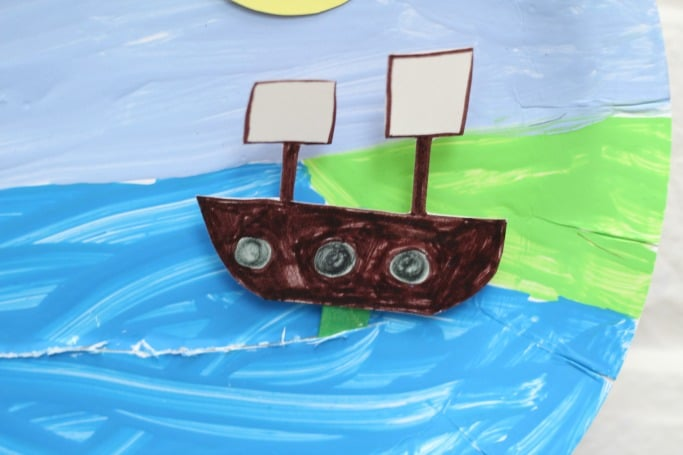 Thanksgiving Crafts for Kids Paper Plate Mayflower Ship