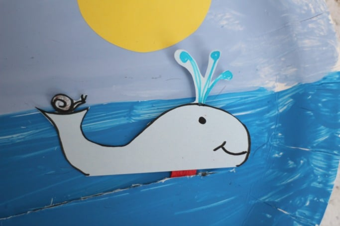 The Snail and the Whale Crafts Movable Paper Plate & The Snail and the Whale Crafts: Movable Paper Plate - Crafts on Sea