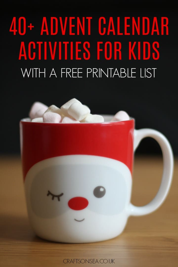 advent calendar ideas activities diy for kids