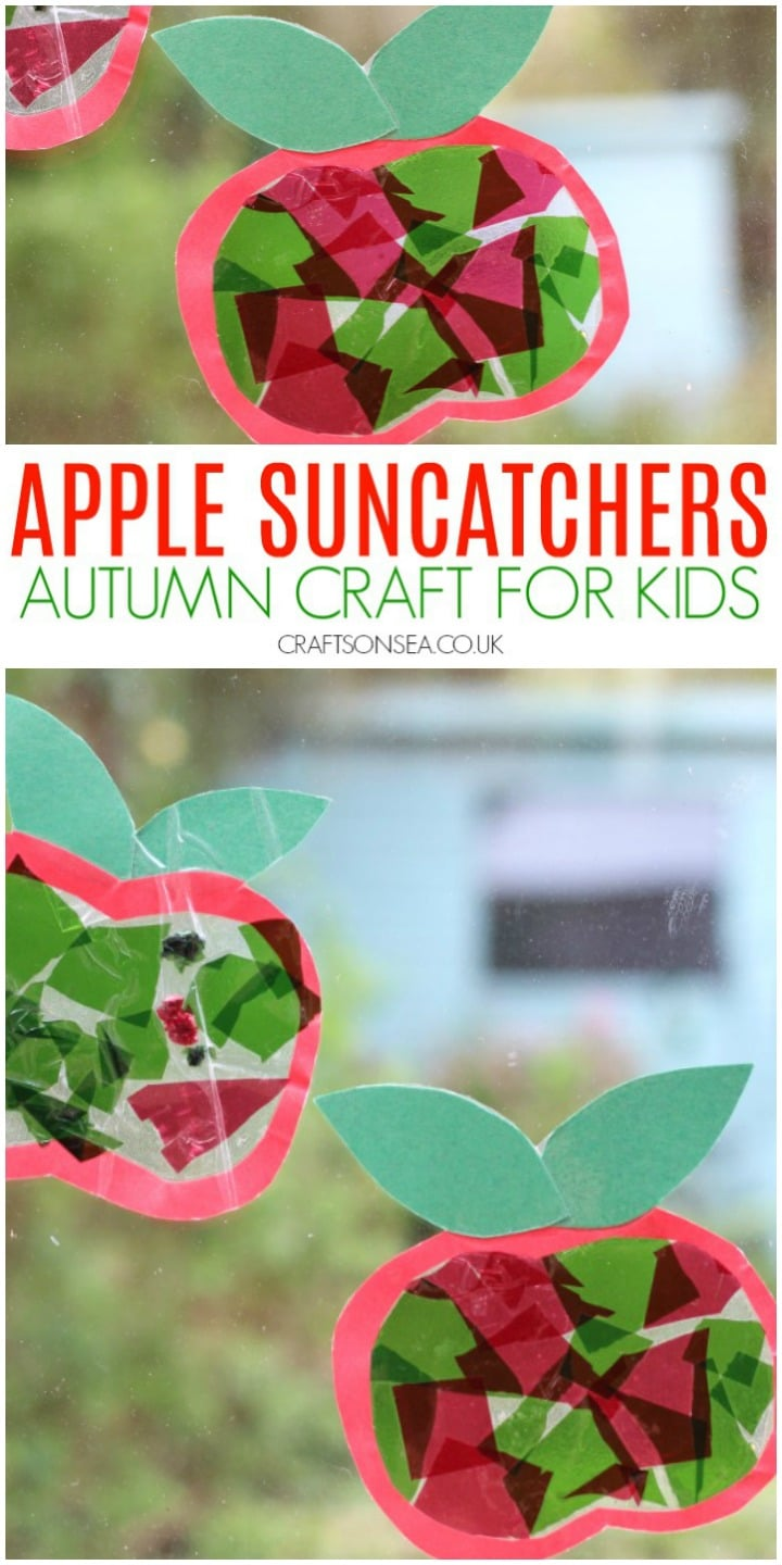 apple suncatcher craft preschool cutting activity