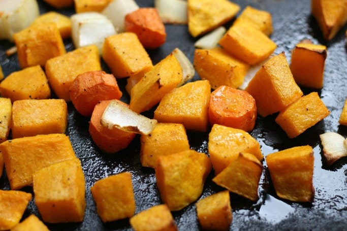 butternut soup roasted vegetables