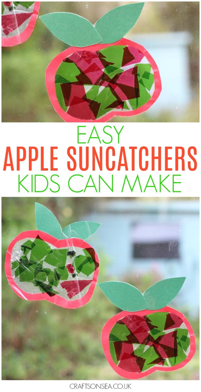 easy apple suncatcher craft for kids