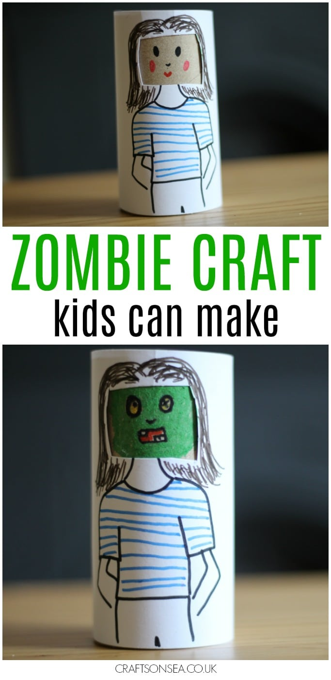 easy zombie craft for kids