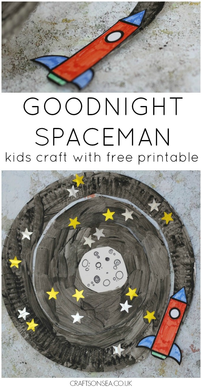 goodnight spaceman craft with free printable