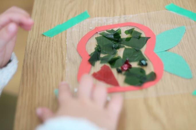 kids apple suncatcher craft