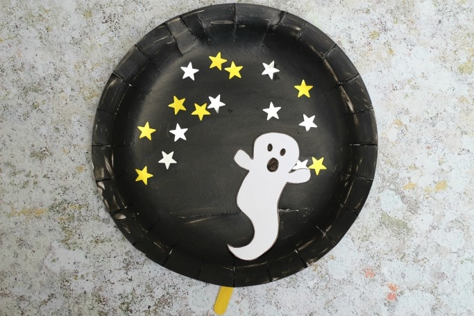 movable paper plate ghost craft & Movable Paper Plate Ghost Craft - Crafts on Sea