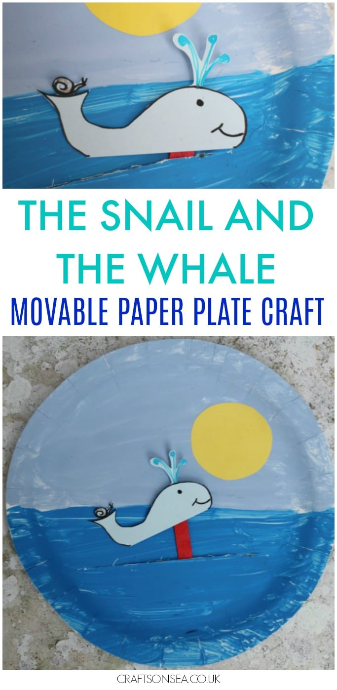 the snail and the whale craft paper plate