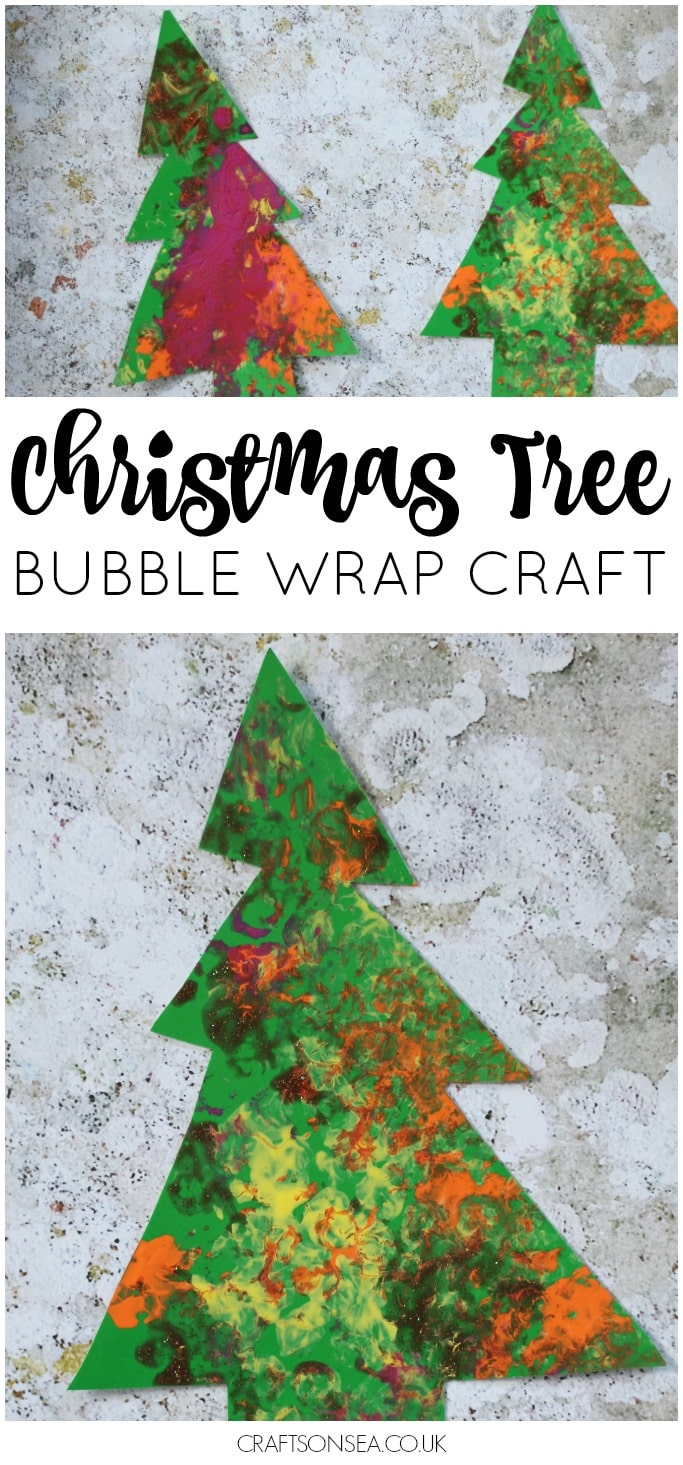 Christmas Tree Bubble Wrap Christmas Craft Easy
