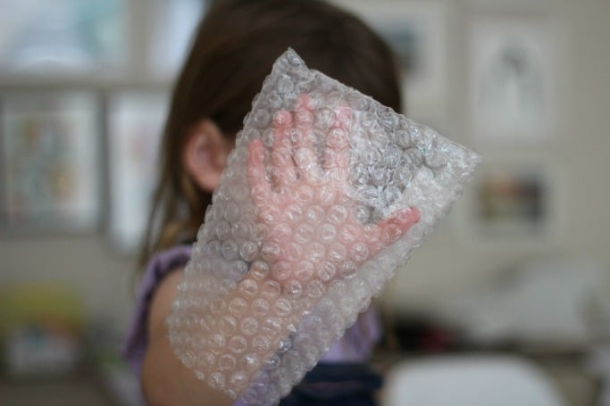 Christmas Tree Bubble Wrap Christmas Craft for Preschool