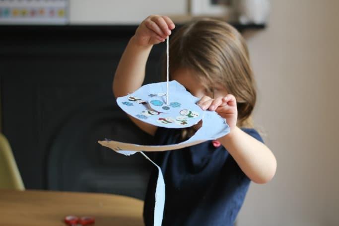 Snowflake Paper Plate Twirler pre-k