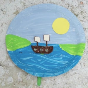 Thanksgiving Crafts for Kids Mayflower Ship paper plate square 300
