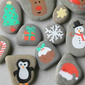 christmas story stones painted rocks 300