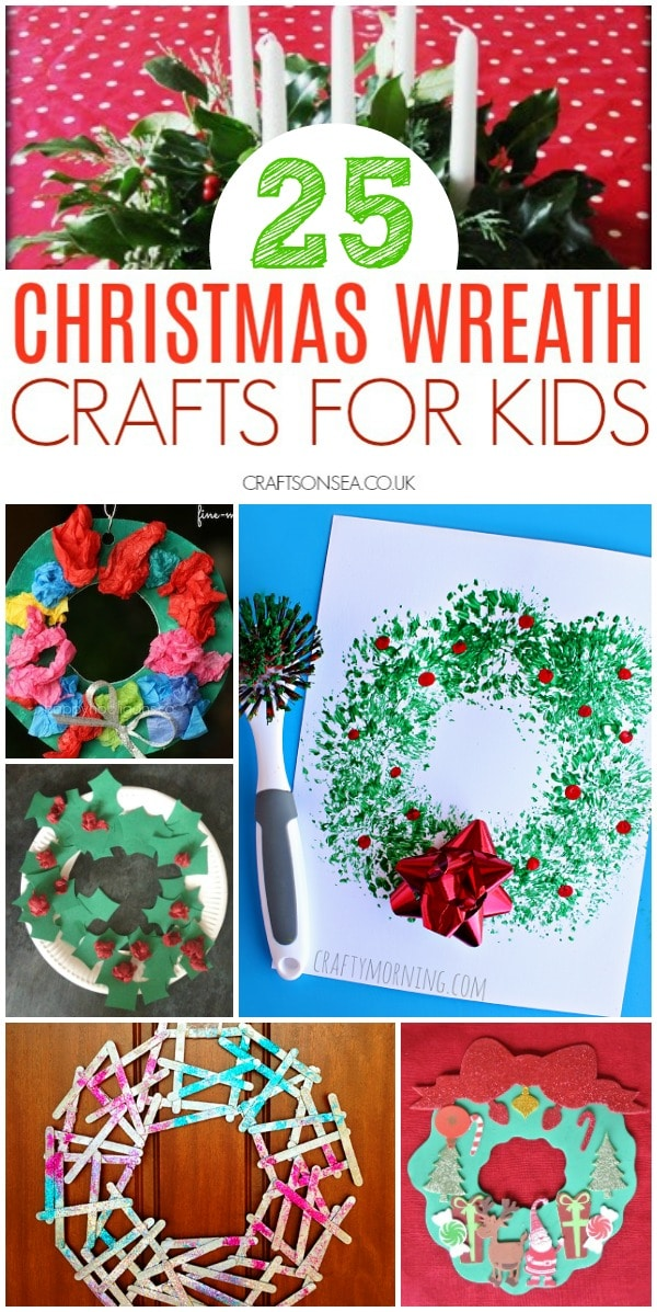 christmas wreath crafts for kids easy #christmascrafts #kidscrafts
