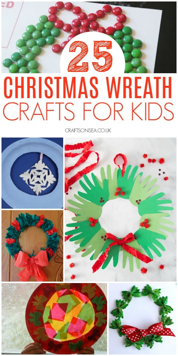 christmas wreath crafts for kids #christmascraftsforkids #christmascrafts