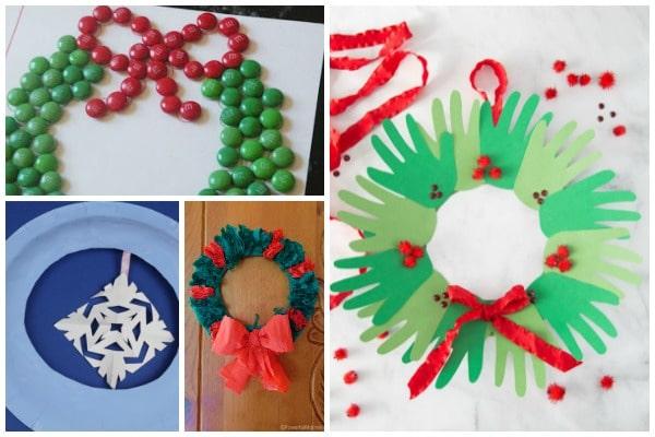 christmas wreaths kids can make