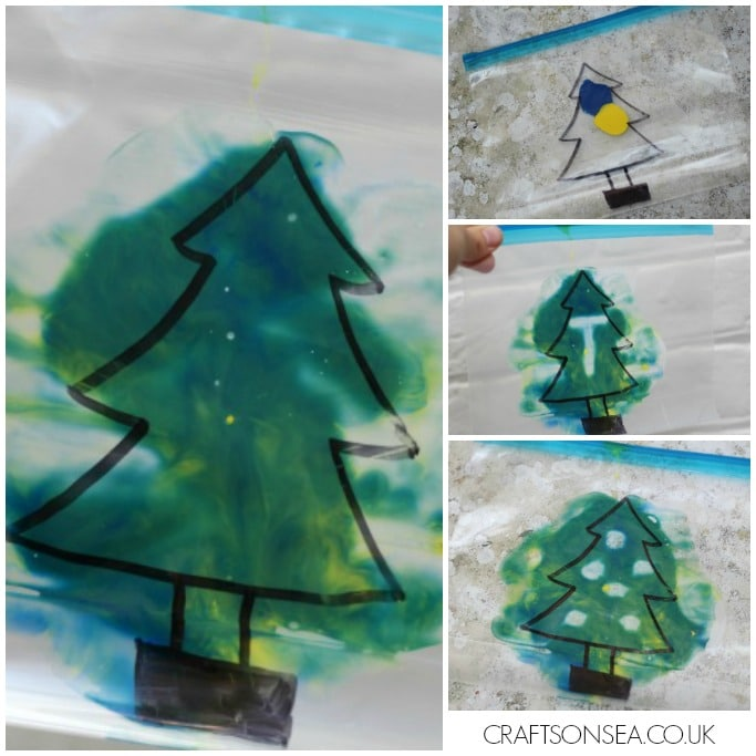 mess free christmas tree activity for kids