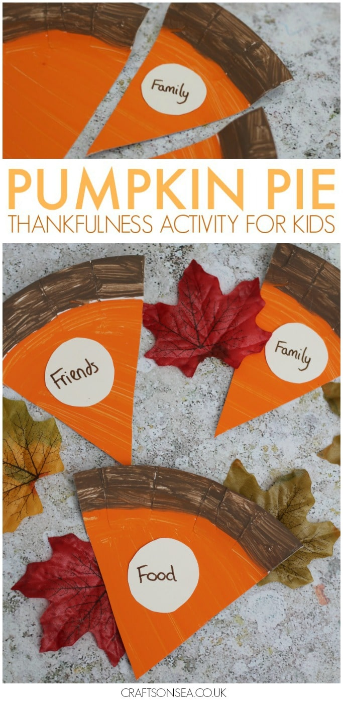 pumpkin pie thanksgiving craft thankfulness activity