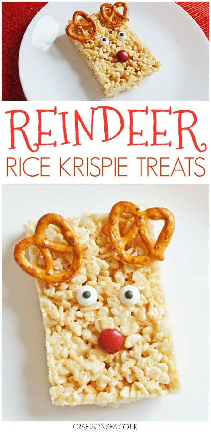 reindeer rice krispie treats christmas