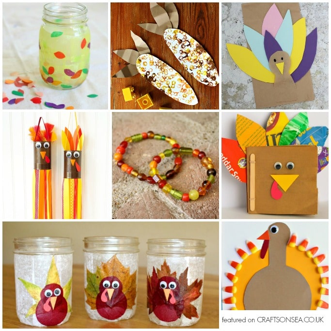 thanksgiving crafts for kids turkey
