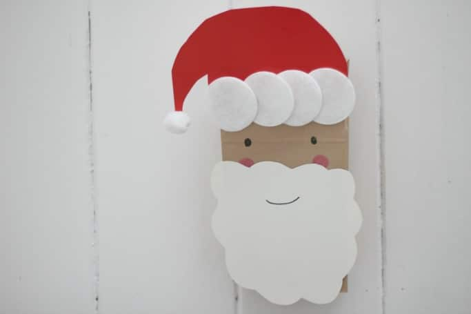 Paper Bag Santa Puppet Craft for Kids