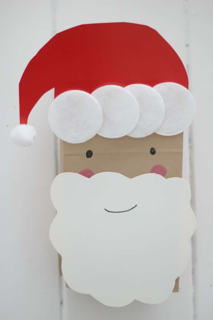 Santa puppet for kids to make