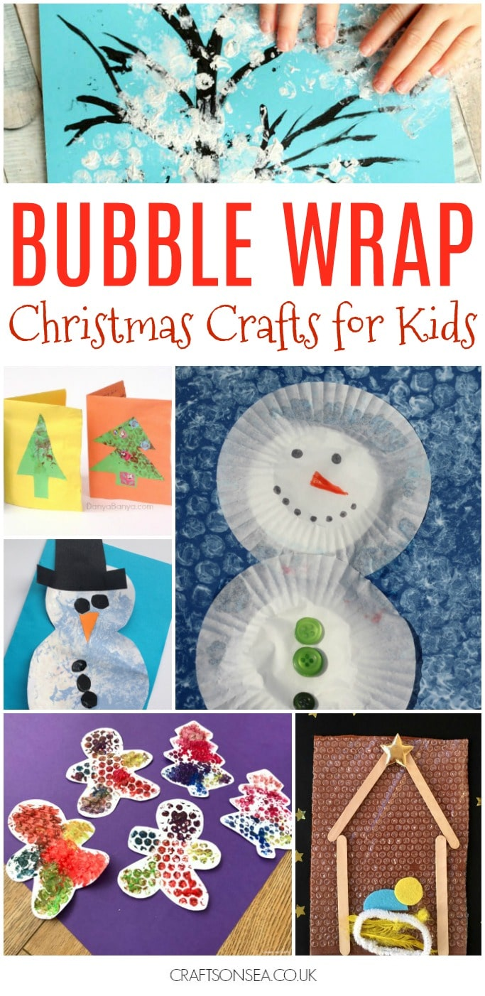 bubble wrap christmas crafts for kids to make