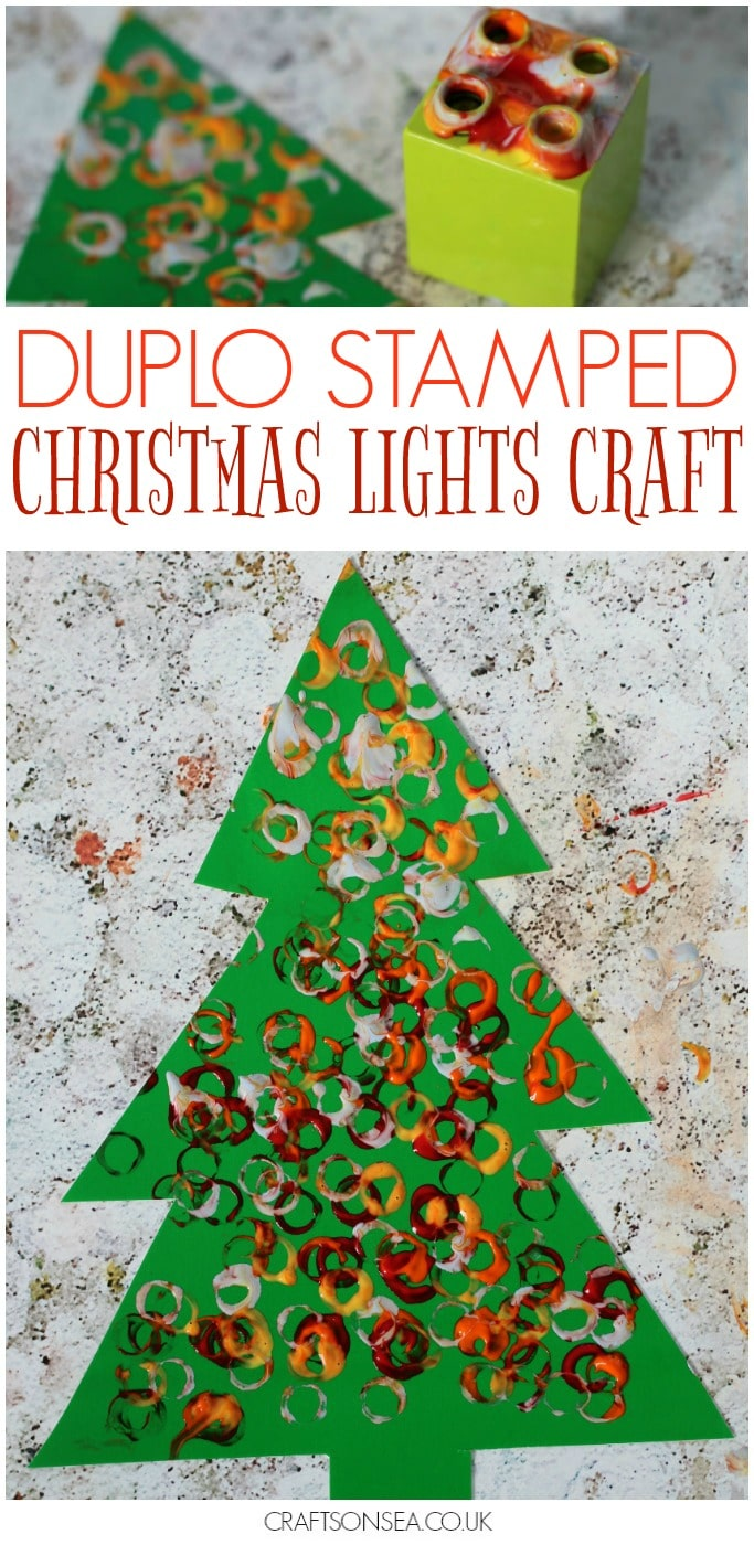 christmas lights craft for kids tree