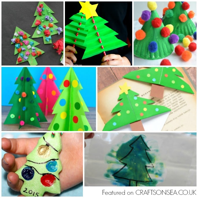 christmas tree crafts for kids square