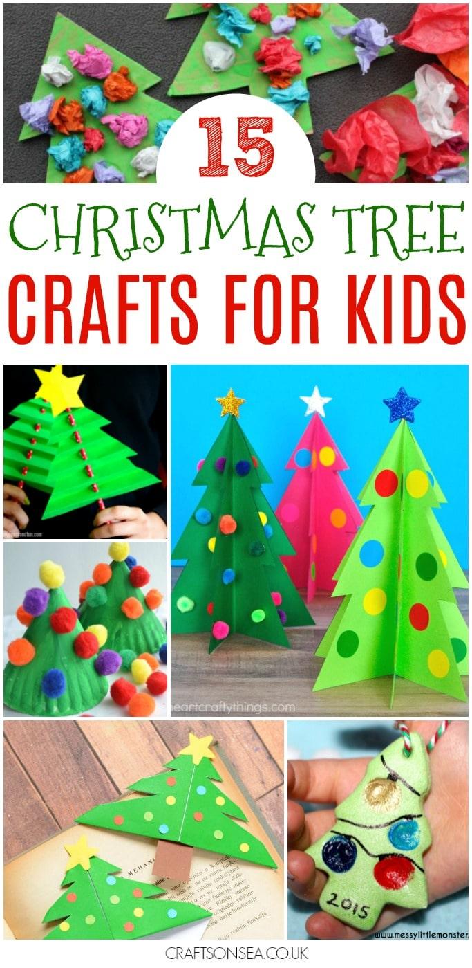 christmas tree crafts for kids to make